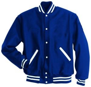 16Wool varsity Letterman jacket Royal-white