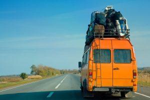strešni nosilci na avtobusu